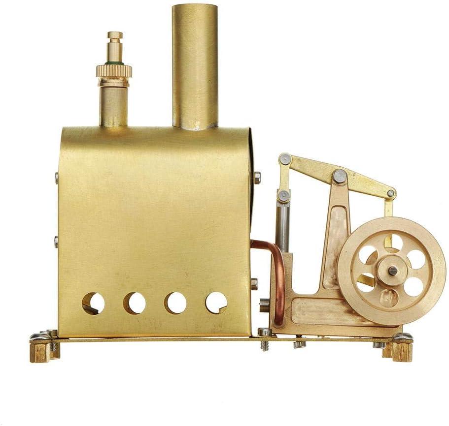 Liergou Modelo De Motor De Juguete Colección del Regalo DIY Motor Stirling Mini Caldera De Vapor De Vapor Modelo del Motor Juguete Educativo Generador De Electricidad (Color : Gold, Size : One Size)