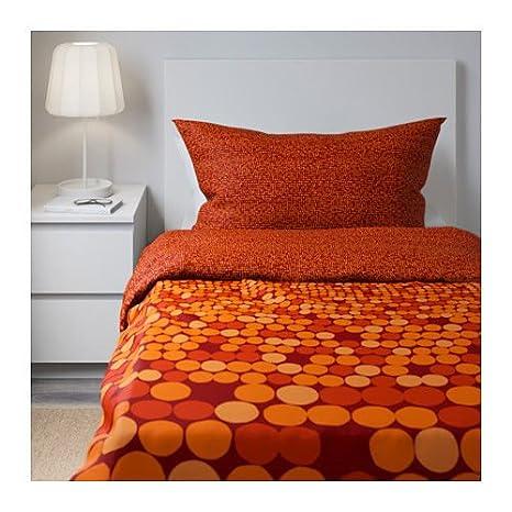 Smorboll Ikea Arancione Singolo Trapunta Copripiumino Set Di