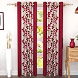 Story at Home Door Curtain, Maroon, 118 x 215 cm, DGY2004, 2 Pieces
