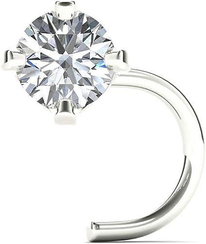 Amazon Com Jewelmore 1 5mm 0 015 Ct Tw Diamond 14k White Gold