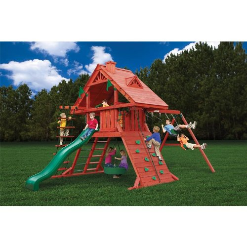 (Sun Palace Playset w Turbo Tire Swing & Extreme Wave Slide)