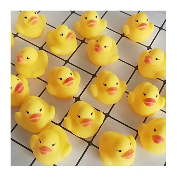 Toyshine Pack of 12 Squeezy Chu Chu Ducks, Duck Family, Bath Toy with Sound
