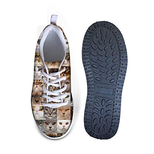 Knuffels Idee Dieren Puzzel Afgedrukt Damesplatform Sneakers Sportschoenen Dieren 1