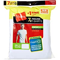 Hanes Mens FreshIQ ComfortSoft Undershirt 7-Pack