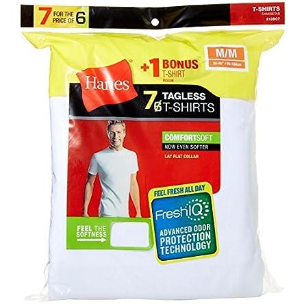 Hanes Men's 7 Pack Freshiq Comfortsoft Crewneck...