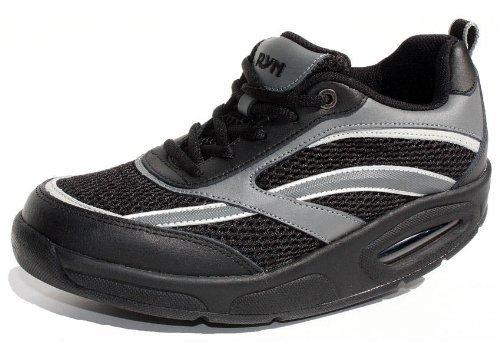 Ryn X-Run Athletic Shoe - Unisex (8.5 (M) US Women's / 7.5 (M) Men's US, Black) (Ryn Fashion Men)