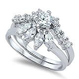 Sterling Silver Ring - Wedding Ring Set (8)