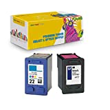 New York TonerTM New Compatible 2 Pack C9352A XL (HP 22) C8727A (HP 27) High Yield Inkjet for HP : 5610xi - Black Color