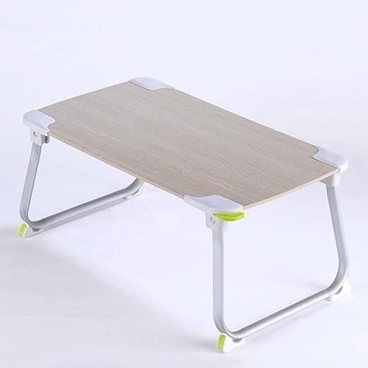 ZHIRONG Home-Like Mesa de cama portátil plegable Mesa de pie ...