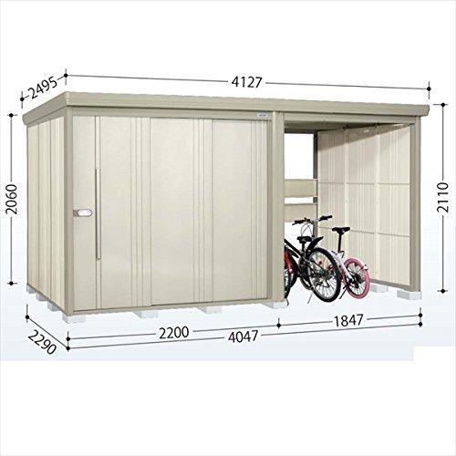 タクボ物置 TP/ストックマンプラスアルファ TP-40R22 一般型 標準屋根 『駐輪スペース付 屋外用 物置 自転車収納 におすすめ』 ムーンホワイト B00V5KZMHA