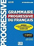 capa de Grammaire progressive du français - A2 B1 - Intermédiaire: + 450 nouveaux tests et activités en ligne (+ CD)