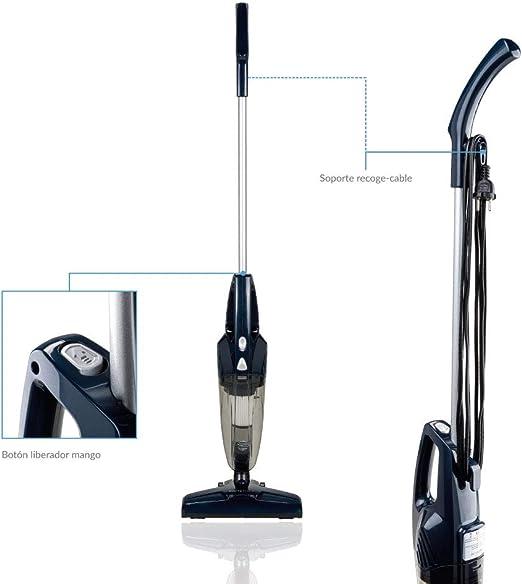 SAMBA Aspirador Vertical y de Mano Duo Stick - Aspirador Escoba con Cable 2 en 1, 800W, Ligero, Sin Bolsa, Filtro HEPA, Capacidad Depósito 0.5 l.: Amazon.es: Hogar
