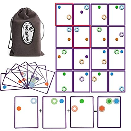 amazon com brainsfun transparent card game family fun party table
