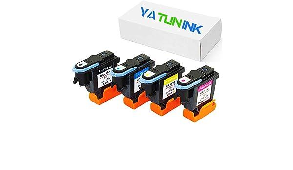 yatunink 1 conjunto de reemplazos para HP 11 Cabezal de impresión 4 unidades (1 negro, 1 cian, 1 magenta, 1 amarillo): Amazon.es: Oficina y papelería