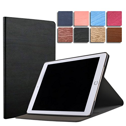 DuraSafe Case for iPad 9.7 2018 / 2017 & Air 2 / Air 1 Case 9.7 Inch (A1893 A1954 A1822 A1823 A1566 A1567 A1474 A1475 A1476 ) Shock Proof Ultra Slim Fit Smart Auto Sleep/Wake - Black by DuraSafe Cases