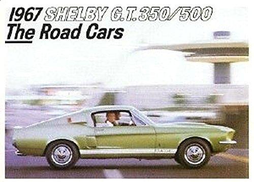 1967 SHELBY GT-350 GT-500 DEALERSHIP FACTORY SALES BROCHURE COBRA MUSTANG SHELBY