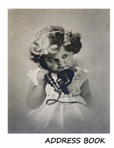 Address Book:: Large print address book. Vintage girl with phone cover, 8.5 x 11 size, alphabetical with over 300 spaces for contact names, phone numbers, addresses, emails, birthdays and more. Paperback – Large Print, 4 Nov 2017 Large Print Address Books