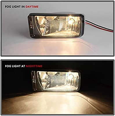 w//Off-Road Package AUTOSAVER88 Fog Lights 5202 PS 12V 24W Halogen Lamp Smoke Lens w//Bulbs for Chevrolet Silverado 2008-2014 Avalanche 2007-2011 Suburban 2007-2014 Tahoe 2007-2014//GMC Sierra//Yukon