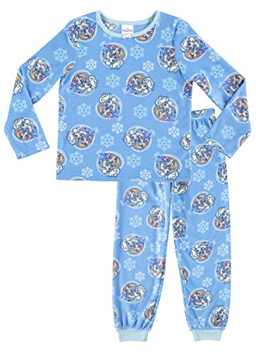 Disney Frozen 2-Piece PJ Set For Girls | Blue Fleece Pajamas For Kids - 5
