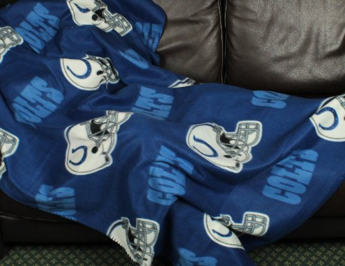 (Indianapolis Colts NFL Fleece Throw Blanket by Northwest )