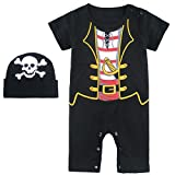 : Mombebe Baby Boys' Pirate Halloween Costume Romper With Hat (18-24 Months, Pirate)