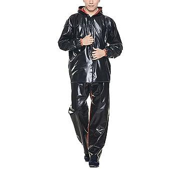 MXueei Impermeable Pantalones de Lluvia Conjunto Adultos ...