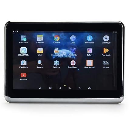 Android 6.0 coche reposacabezas monitor 1366 * 768 1080P HD ...