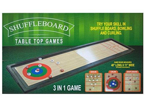 Bulk Buys 3 In 1 Shuffleboard Tabletop Game by bulk buys