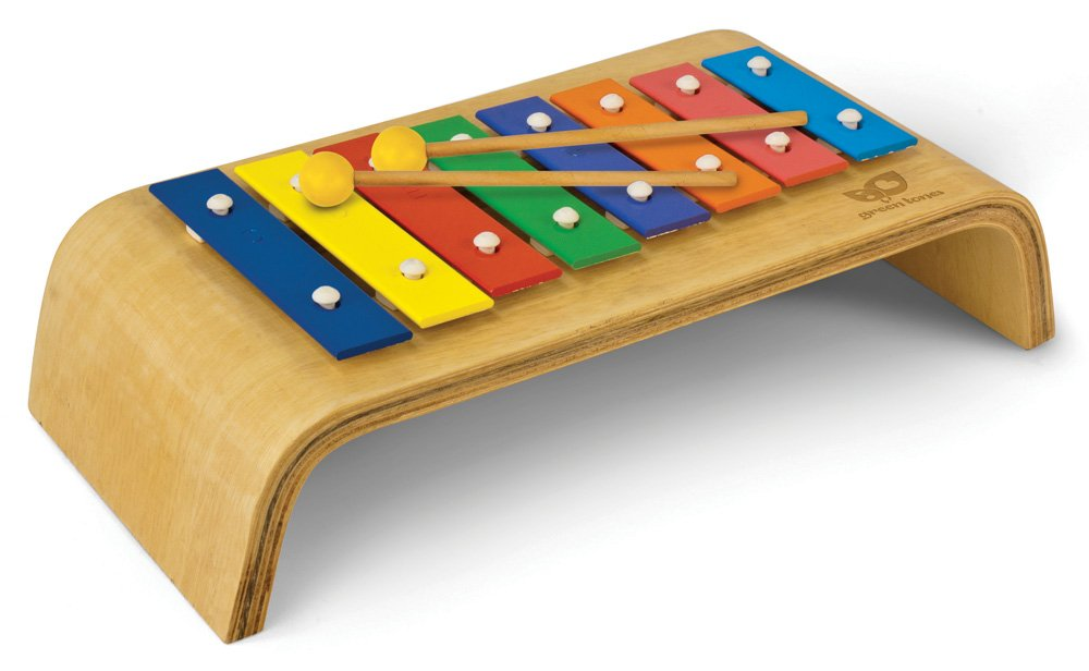 Green Tones Melody Glockenspiel with Mallets