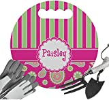 RNK Shops Pink & Green Paisley and Stripes Gardening Knee Cushion (Personalized)