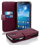 Samsung Galaxy MEGA 6.3 Hülle in LILA von Cadorabo - Handy-Hülle mit Karten-Fach für Galaxy MEGA 6.3 Case Cover Schutz-hülle Etui Tasche Book Klapp Style in BORDEAUX-LILA
