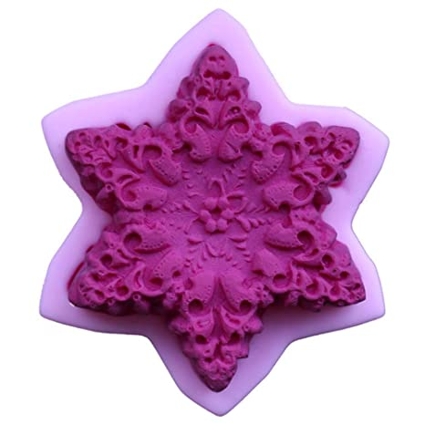 Stockton Molde de Pastel Copos de Nieve Molde de Silicona para Navidad Hornear Decoracion Tartas Pasteles
