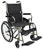 Karman Healthcare KM-9020L18C Folding Aluminum Ultralightweight Wheelchair, Champagne, 20 Inches Rear Wheels and 18 Inches Seat Width