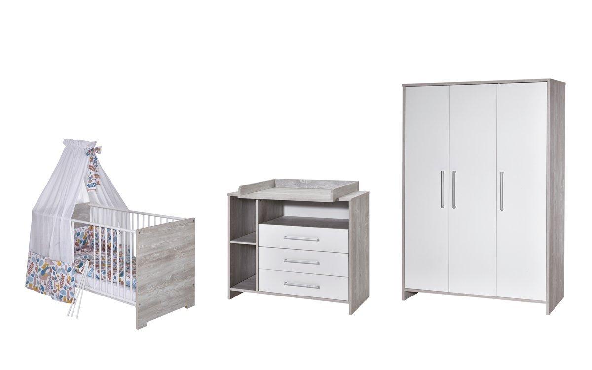 Schardt 11 560 88 00 Kinderzimmer 3 - teilig Eco Cascina bestehend aus, Kombi - Kinderbett 70 x 140 cm