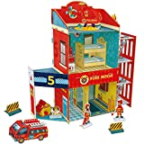 CubicFun Fire Rescue DIY Dollhouse Kit,Kids House Puzzle Toys,P813h 89 Pieces