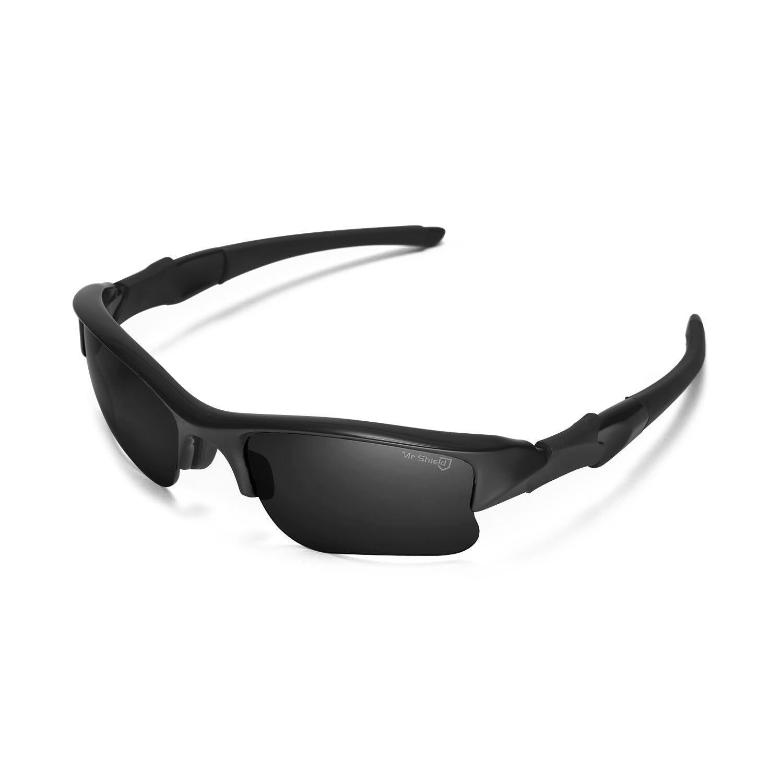 7e9fc1a90d Walleva Replacement Lenses Or Lenses Rubber Kit for Oakley Flak Jacket XLJ  Sunglasses - 41 Options (Black - Mr. Shield Polarized) - WL007-PCP-BK ...