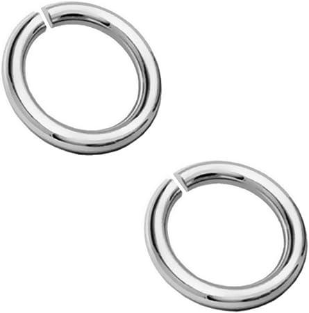 My-Bead 5 Paar Binderinge Biegeringe /Ø 8mm x 10mm 925 Sterling Silber /Ösen offen /Ø 1mm Drahtst/ärke DIY