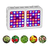 HILLPOW 300W Full Spectrum Plants LED Grow Lights Kits, Indoor Plants Growing Lamps for Greenhouse Flowering Blooming (White)