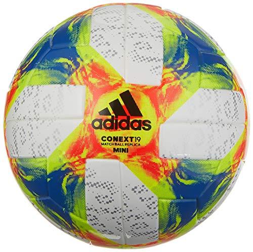 adidas Conext 19 Mini Ball White/Solar Yellow/Solar Red/Football Blue Bottom: Silver Metallic/Black, 1