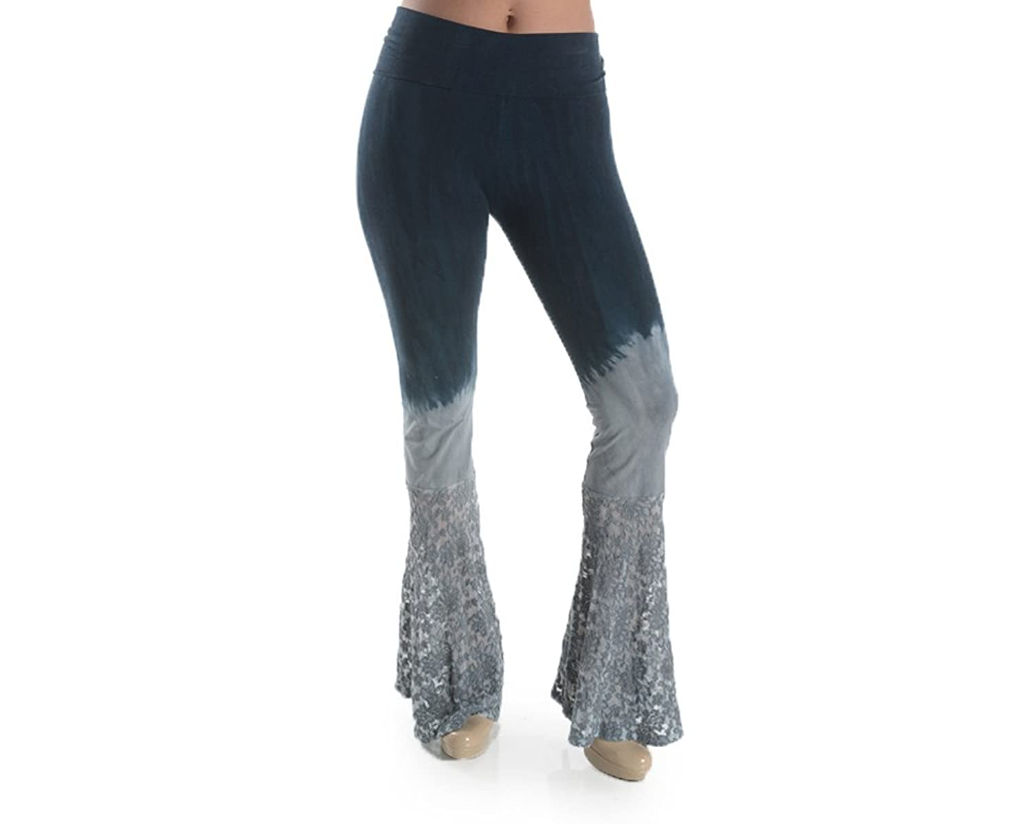 T-Party CJ72833 Navy Lace Tie Dye Mineral Wash Bell Pants