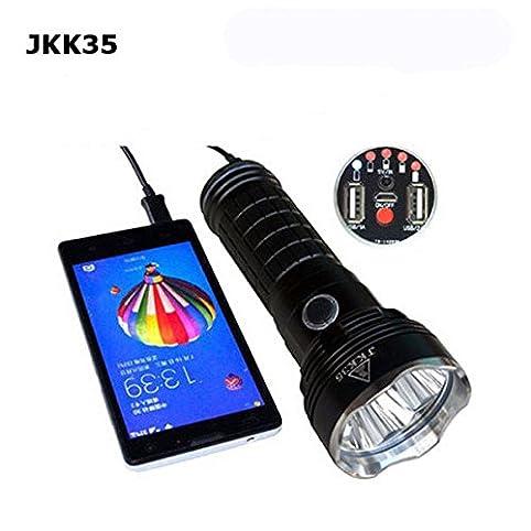 Pegasus JKK35 3x XM-L2 2800LM 5Modes USB Wiederaufladbare LED Taschenlampe