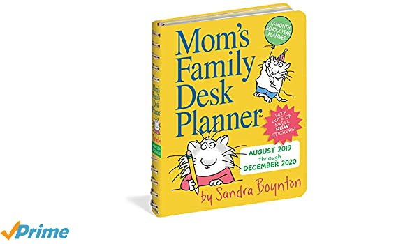 Moms Family Desk Planner Calendar 2020: Amazon.es: Sandra ...