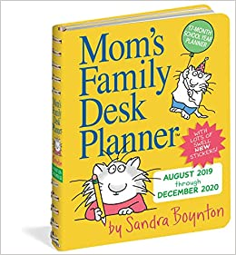 New York Times Best Sellers December 2020 Mom's Family Desk Planner Calendar 2020: Sandra Boynton