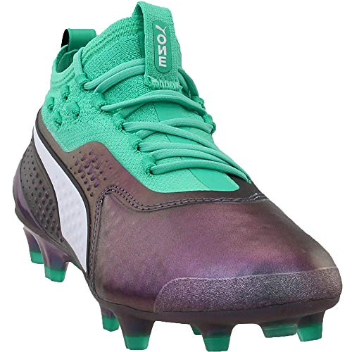Puma Boys One 1 Il Leather Firm Ground/Artificial Grass Junior Soccer Casual Cleats, Purple, 6