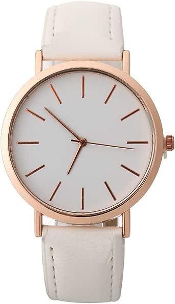 YpingLonk_ Relojes para Mujer Retro Cuero de Imitación Relojes ...