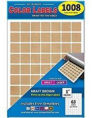 """Color 1"""" Square Labels"""