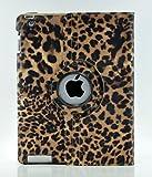LiViTech(TM) Leopard Design Series 360 Degree Rotating PU Leather Case Cover for Apple iPad (iPad 2 3 4, Orange)