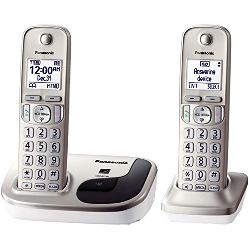 Panasonic KX-TGD212N Dect_6.0, 2-Handset Landline Telephone