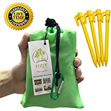 """Outdoor Picnic Blanket (71"""" x 55"""") -Compact, Lightweight, Waterproof, Sand Proof Pocket Blanket Best for the Beach, Hiking, Travel, Camping, with Pockets, Loops, Stakes, Carabiner"""