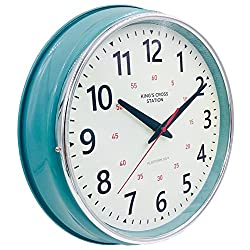 YAVIS 2018 Countryside Style Metal Wall Clock, Retro/Vintage Clock, Non Ticking,Silent 12.4 Inch